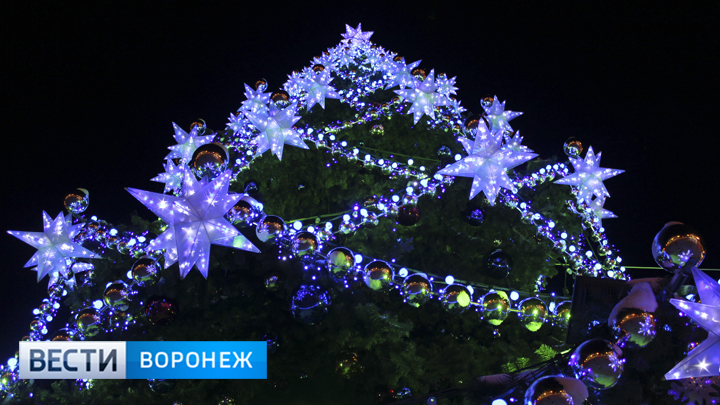 Воронеже демонтируют главную ёлку области