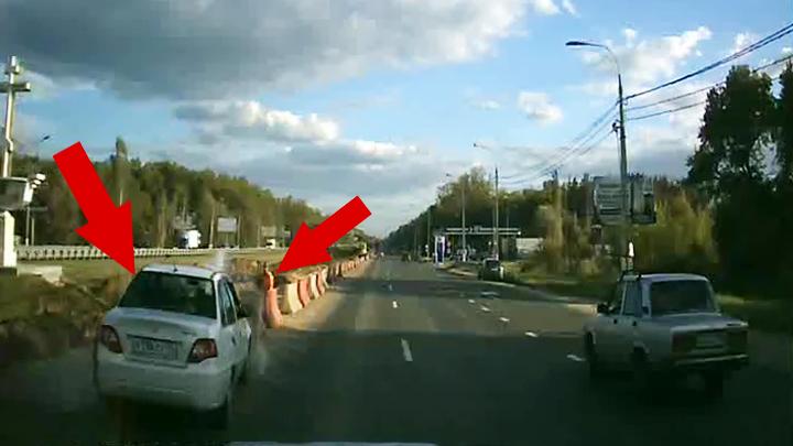 Опубликовано видео с погоней за пьяным водителем, сбившим дорожника на подъезде к Воронежу