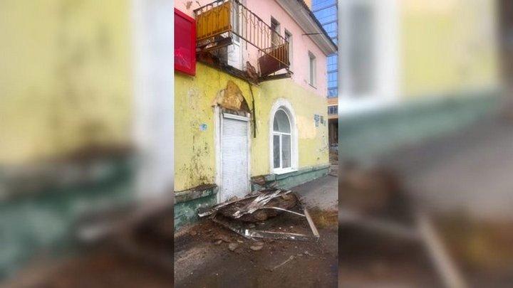 Воронежская УК о рухнувшем балконе трёхэтажки: «Дом потихоньку рассыпается»