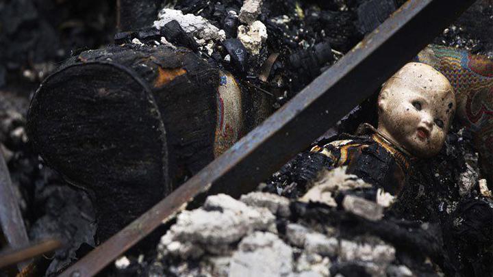В Воронежской области при пожаре погибла семья с тремя маленькими детьми