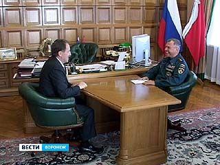 Алексей Гордеев встретился с замминистра МЧС России Александром Чуприяном
