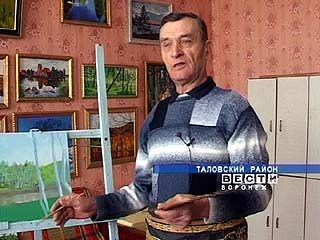 Анатолий Сурков из Абрамовки просто взял в руки кисть и начал рисовать