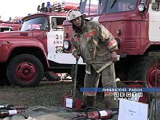Аннинские пожарные провели учения