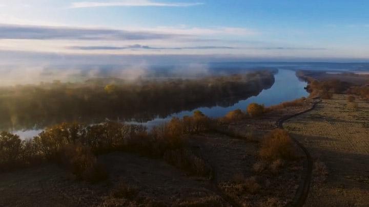 Воронежец снял видео осенних пейзажей над Доном