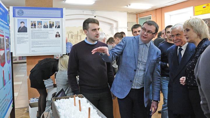 В Воронежском опорном университете прошёл конкурс-выставка научно-технических достижений
