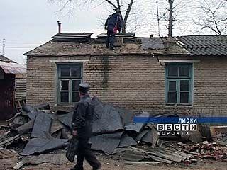 Без крыши над головой оказались жители нескольких домов в Лисках