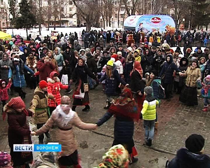 Воронежцы с размахом отметили Масленицу