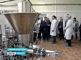 Частный молочный завод открылся в селе Юдановка Бобровского района