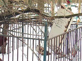 Давно закрытое кладбище в районе СХИ вновь напомнило о себе