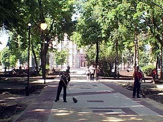 День России в Воронеже отметили открытием Кольцовского сквера