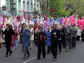 День весны и труда Воронеж встретил рекордной по количеству демонстрацией