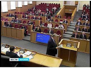 Депутаты Воронежской облдумы должны утвердить бюджет-2014