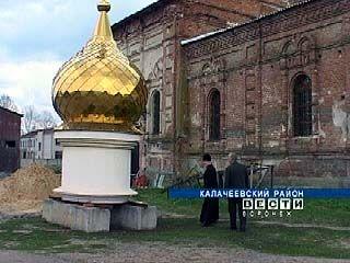 Для храма Святого Пантелеймона в Калачеевском районе завезли купола