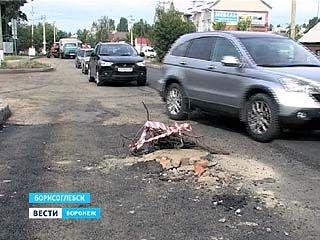Двое воронежцев наехали в Борисоглебске на торчащий канализационный люк