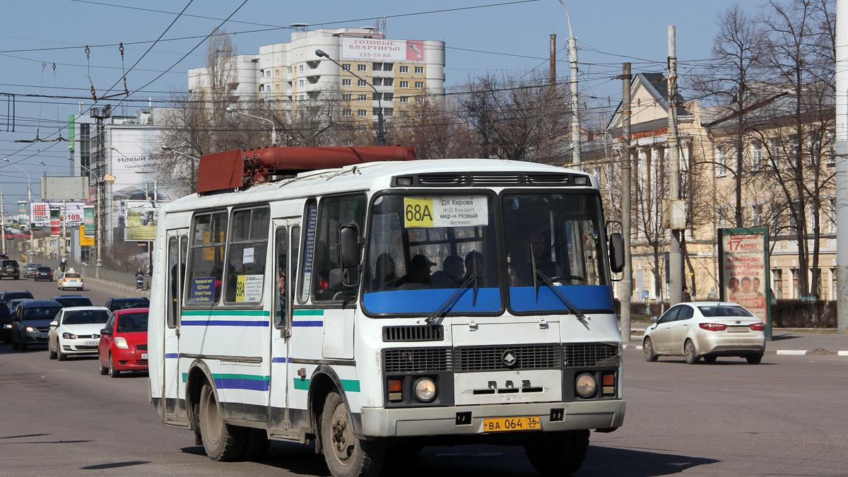 В Воронеже сократили маршрут автобуса №68а