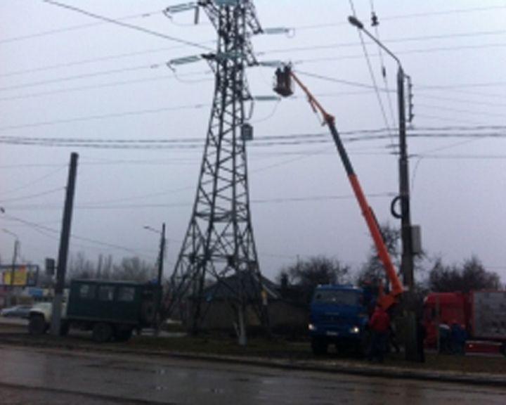 Электроснабжение трёх обесточенных районов Воронежа восстановлено