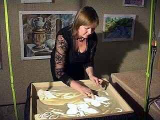 Елена Жемеря - первая воронежская художница песчаной графики