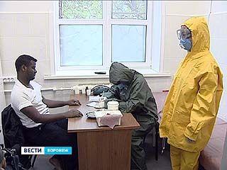 Если смертельный вирус Эбола проник на территорию - учения прошли у воронежских врачей