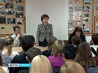 Галина Карелова встретилась со старшеклассниками Воронежской школы ╧94