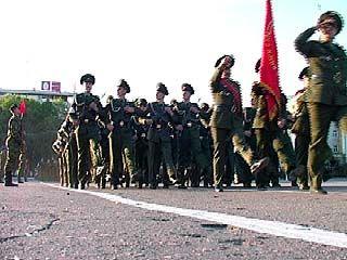 Генеральная репетиция парада прошла на главной площади Воронежа