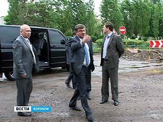 Глава города проверил ход работ по благоустройству Воронежа к юбилею