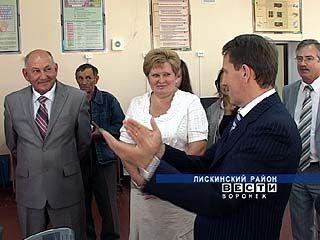 Глава области совершил рабочую поездку по Лискинскому району