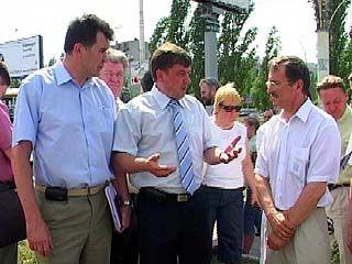 Глава Воронежа посетил места незаконного строительства