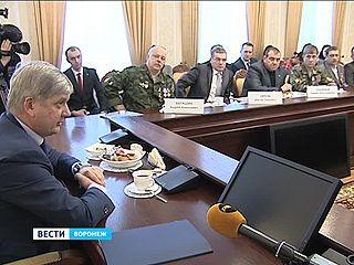 Глава Воронежа встретился с ветеранами-афганцами