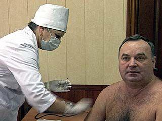 Главный санитарный врач области сделал прививку от гриппа