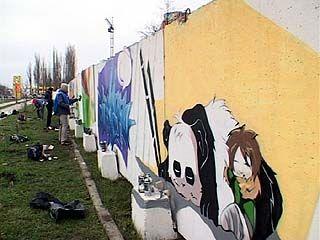 Граффисты призвали воронежцев к здоровому образу жизни