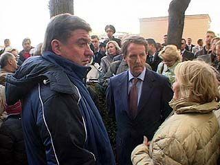 Губернатор и глава Воронежа проверили ход работ по восстановлению жилья