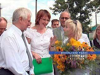 Губернатор области побывал в Хохольском районе с рабочим визитом