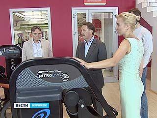 Губернатор посетил недавно открывшийся в Воронеже фитнес-центр