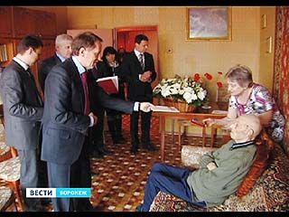 Губернатор поздравил ветерана Георгия Глебова со 100-летним юбилеем