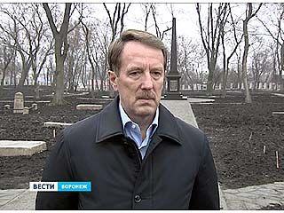 Губернатор проинспектировал ход работ на Терновском кладбище
