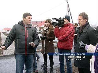 Губернатор проинспектировал ход работ в поселке Александровка
