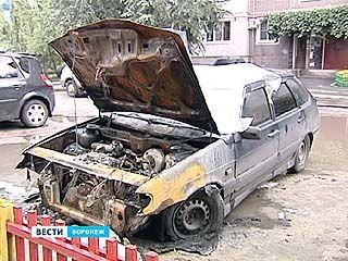 И снова в Воронеже сгорела машина