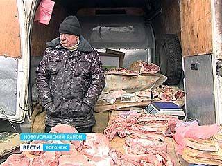 Импровизированные мясные прилавки в Воронеже стали ещё мобильнее