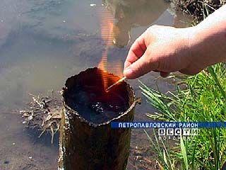 """Источник """"горящей воды"""" проистекает в Петропавловском районе"""