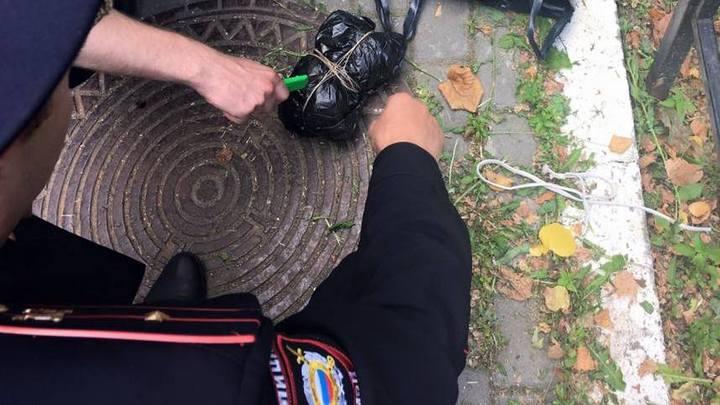 В Воронеже к лютеранской церкви подбросили похожий на бомбу свёрток