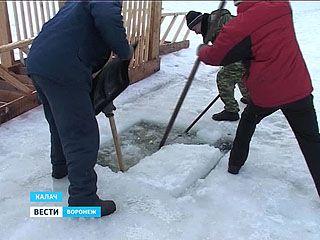 Как в Воронежской области готовились к крещенским купаниям?