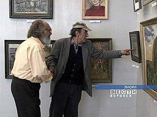 Калачеевские художники в Лисках выставляются впервые
