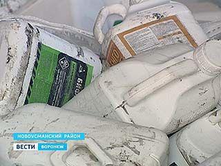 Канистры из-под пестицидов перерабатывают в Новоусманском районе