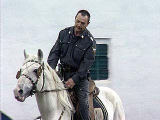 Конная милиция готовится к празднованию Дней Славянской письменности