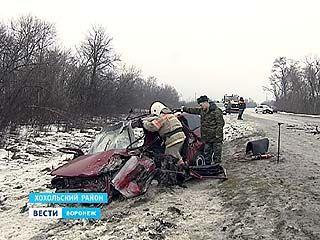 Крупная авария под Воронежем: один погибший и четверо пострадавших