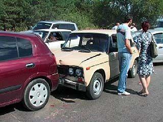 Крупная авария произошла на окружной дороге недалеко от Авторынка