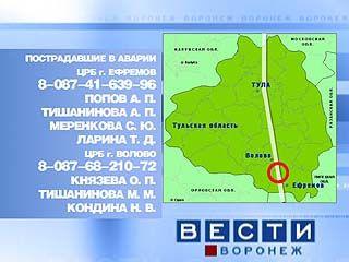 Крупная авария произошла в Тульской области