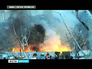 """Крупный пожар произошёл накануне вечером у """"Пивзавода"""""""