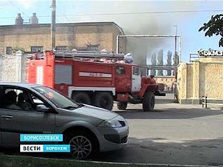 Крупный пожар произошёл в центре Борисоглебска