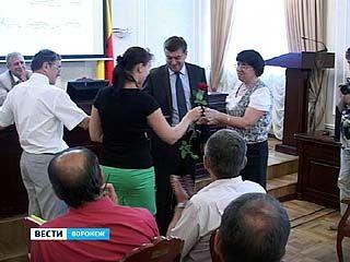 Лучшие строители Воронежа принимали поздравления от городских властей